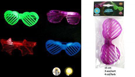 LUNETTES GRILLE A LED (Assortiment couleurs)
