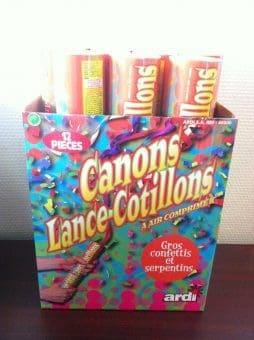 lance cotillon multicolores 30 cm