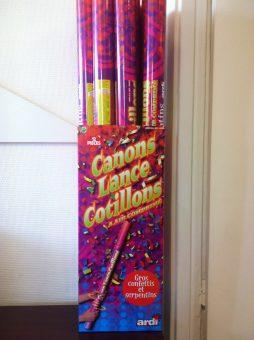 Canon multicolore lance cootillons