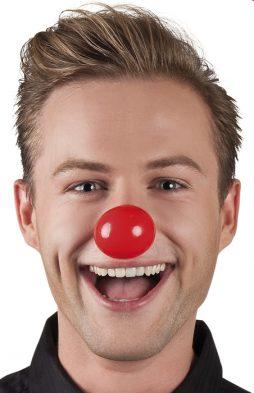nez de clown en plastique avec elastique