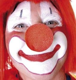 Nez clown cirque en mousse rouge