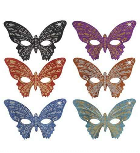 LOUP PAPILLON STRASS (Assortiment 6 coloris)