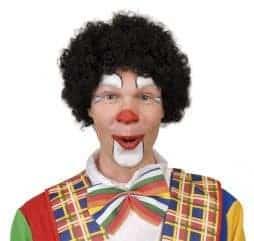 Perruque de clown couleur noire