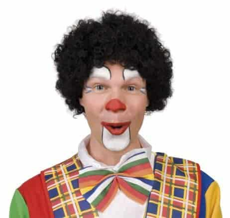PERRUQUE DE CLOWN (Perruque boucles noires)