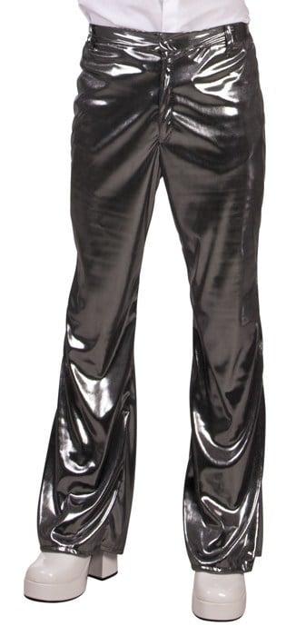Pantalon disco couleur argentée