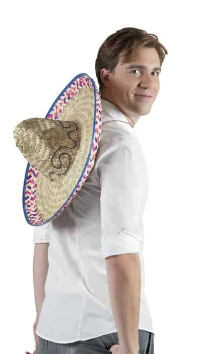 Chapeau mexicain en paille bicolore