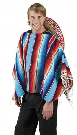 Poncho mexicain multicolore