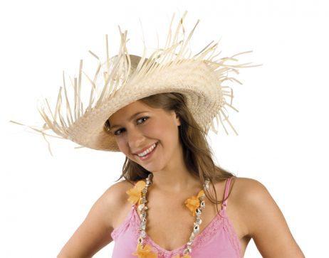 chapeau hawai en paille