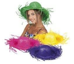 Chapeau hawai en paille 4 coloris