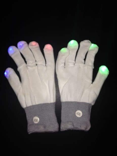 Paire de gants lumineux
