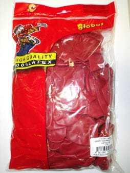 sac de 100 ballons coeur rouge