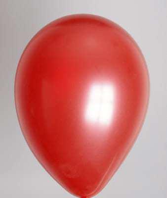 Ballons rouges metallisés