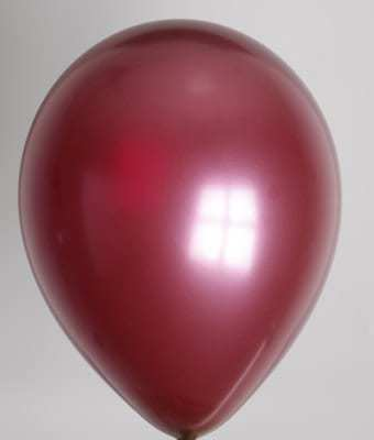 BALLONS BORDEAUX (Ballons effet métal)