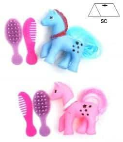 Mini poney a coiffer rose ou bleu