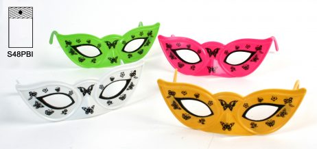LOT MASQUES PAPILLON (Plastique - 4 coloris)