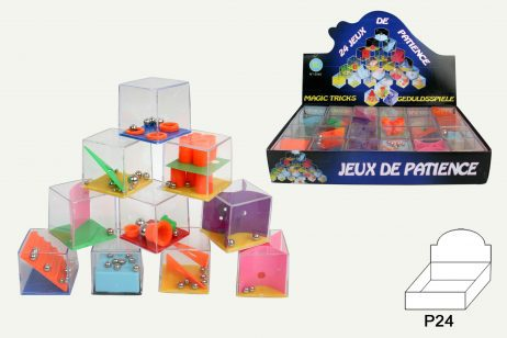 BOITE JEUX DE PATIENCE (24 Cubes casse tête)