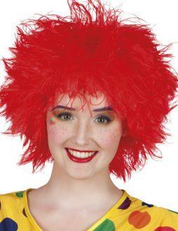 Perruque dejantee rouge clown