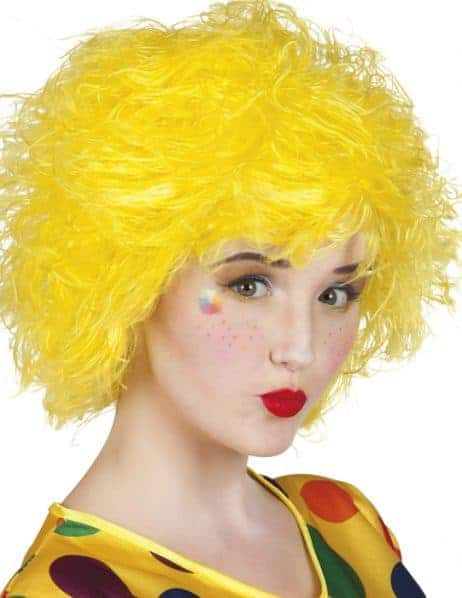 Perruque clown femme jaune