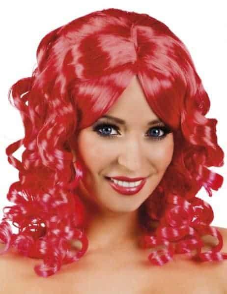PERRUQUE SCARLETTE (Cheveux rouges bouclés)