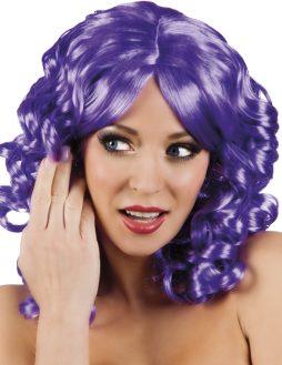 perruque violette bouclee scarlette