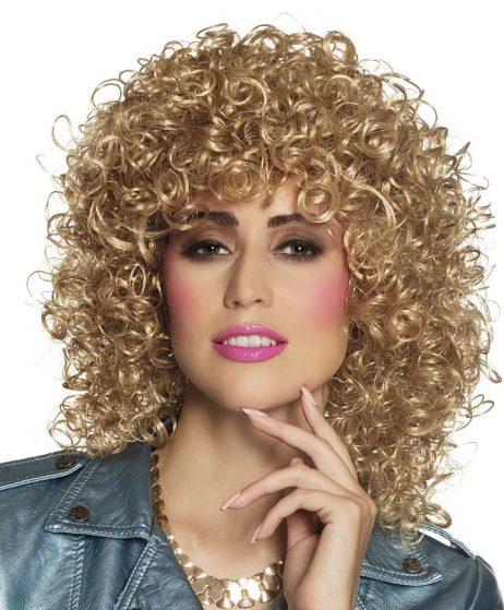 PERRUQUE CLUB (Cheveux blonds bouclés)