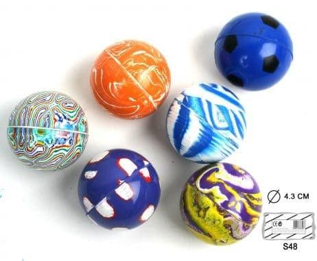 Balles rebondissantes assorties