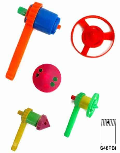 TOUPIE AVEC LANCEUR (Diamètre 8 cm - 5 coloris)