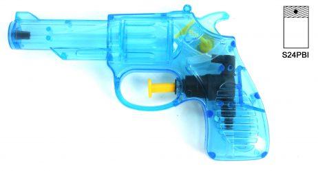 Pistolet a eau 14 cm bleu ou rouge