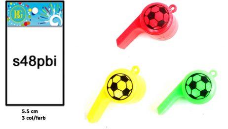 SIFFLET EN PLASTIQUE (Taille 5.5 cm - 3 coloris)