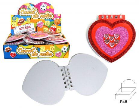 Carnets en forme de coeur