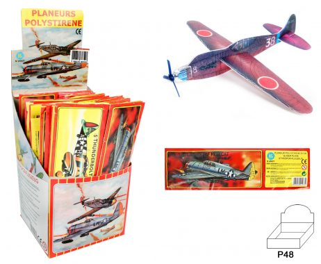 Avion planeur 20 cm en polystyrene