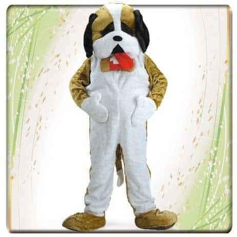 Mascotte peluche chien