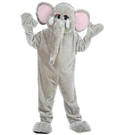 Deguisement elephant pour adulte en peluche