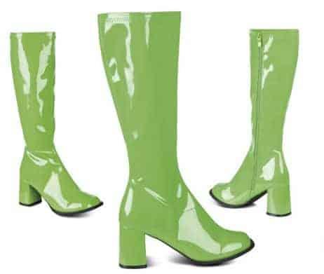 Bottes vertes fluo brillantes pour femme