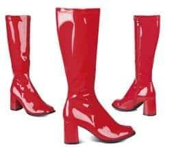 Bottes rouges brillantes