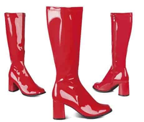 BOTTES DISCO FASHION (Couleur - Rouge Brillant)