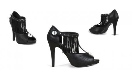 Chaussures noires pour femme modele charleston