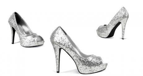 Chaussures disco couleur argent
