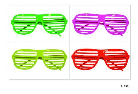 Lunettes grille fluo 4 couleurs