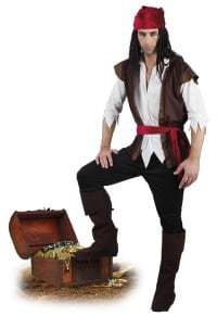 COSTUME PIRATE HOMME (Version de luxe)