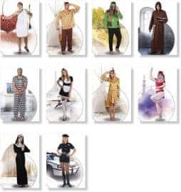 Assortiment deguisements pour adultes hommes et femmes