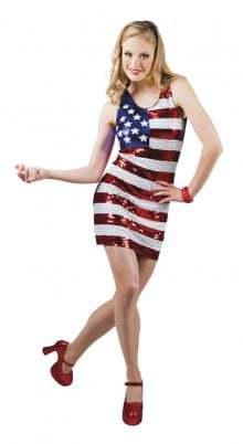 robe drapeau américain
