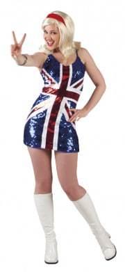 robe drapeau anglais sexy