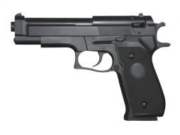 Pistolet noir metal a billes