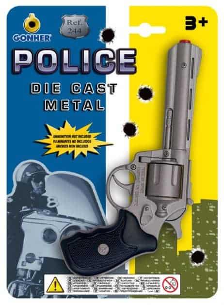 PISTOLET POLICIER GONHER (Métal 8 coups)