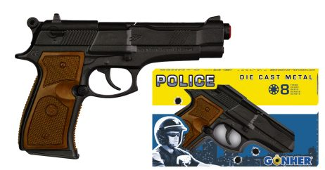 PISTOLET POLICIER GONHER (Métal - 8 coups)