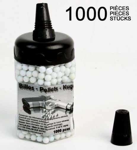 1000 billes plastiques pour pistolet