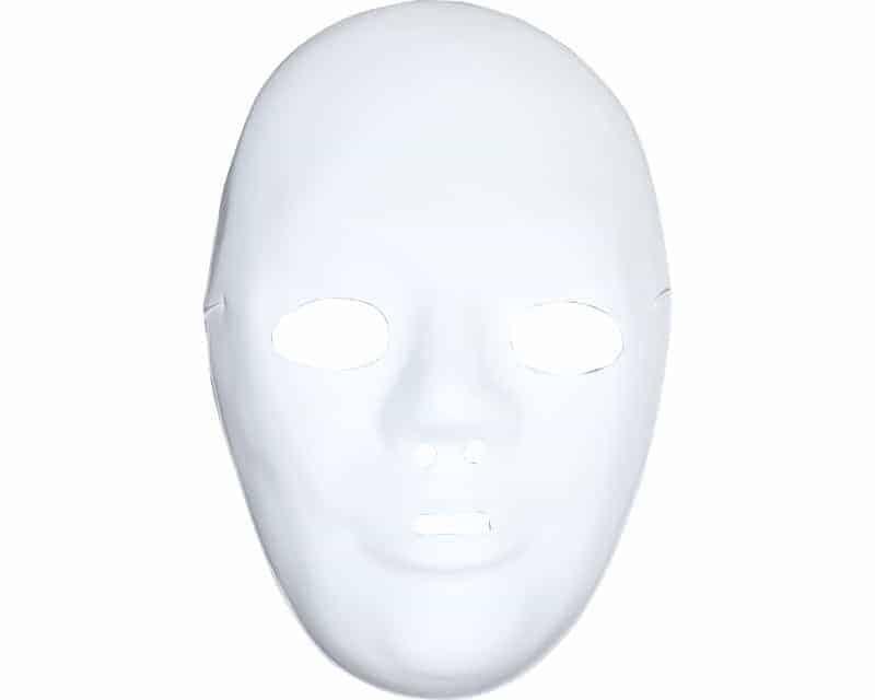 Kit masques a peindre plastique blanc ced for Decorer un masque blanc