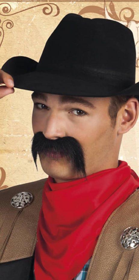 Moustache Cowboy noires