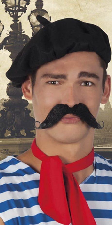 Moustache noire longue